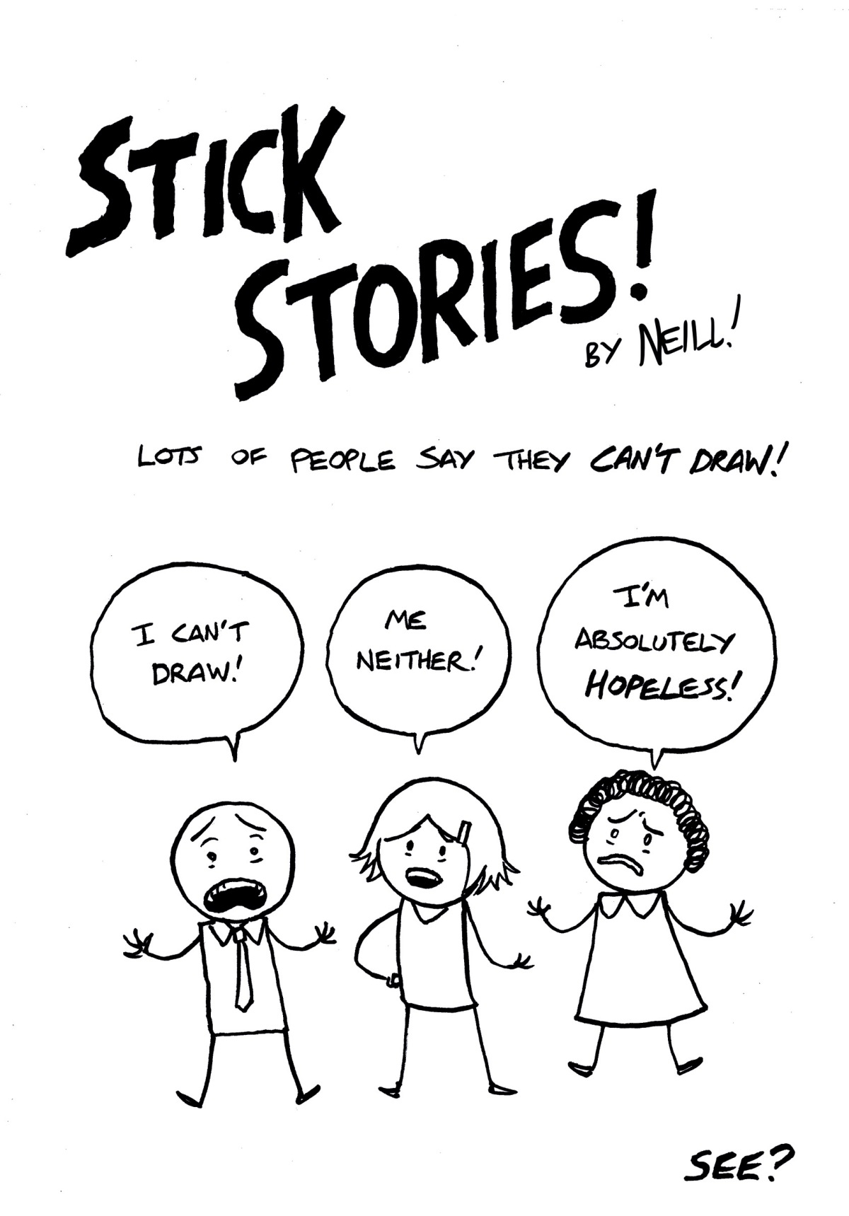 January Comics Challenge: Stick Stories!