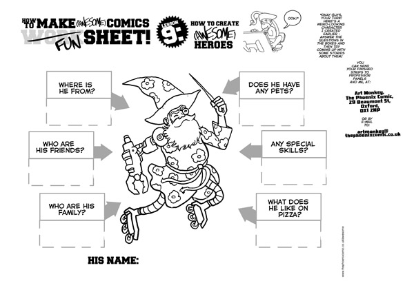 awesome-comics-lesson-9-activity-sheet