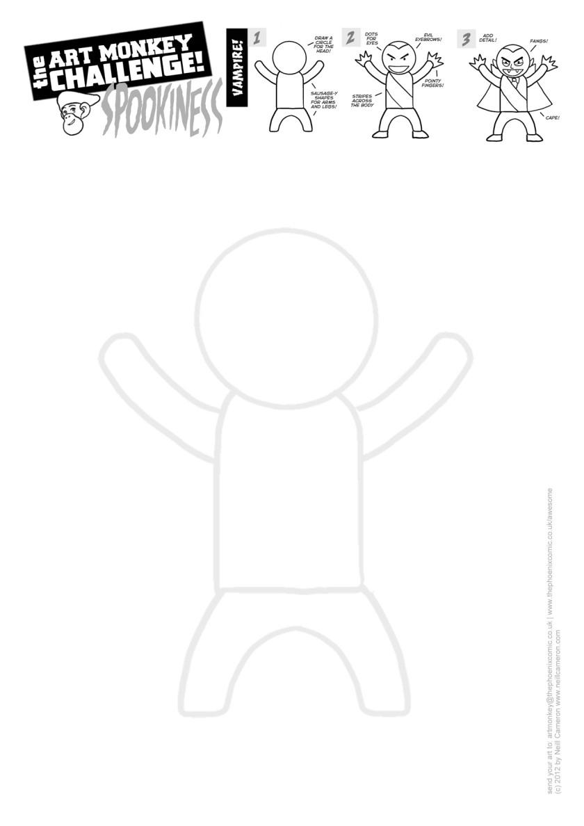 Art Monkey 21a - VAMPIRE Activity Sheet