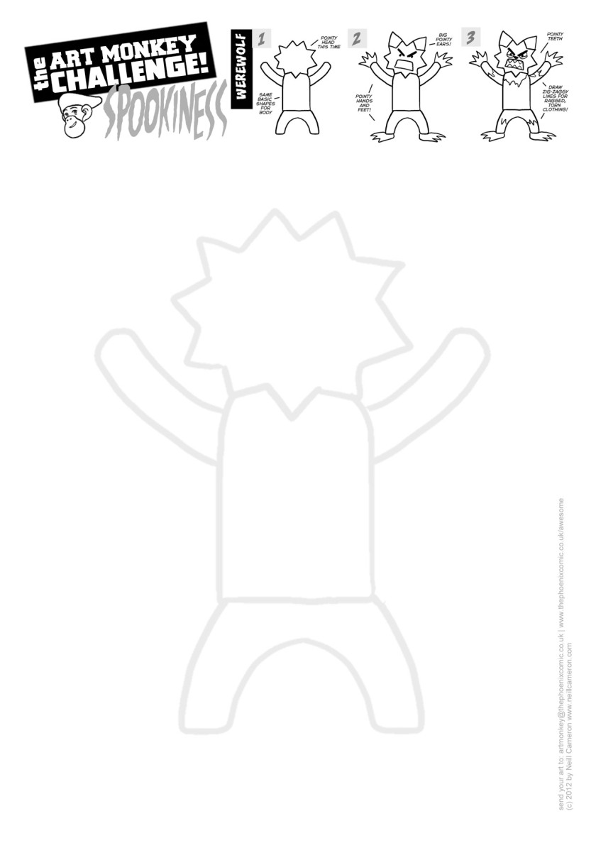 Art Monkey 21b - WEREWOLF Activity Sheet