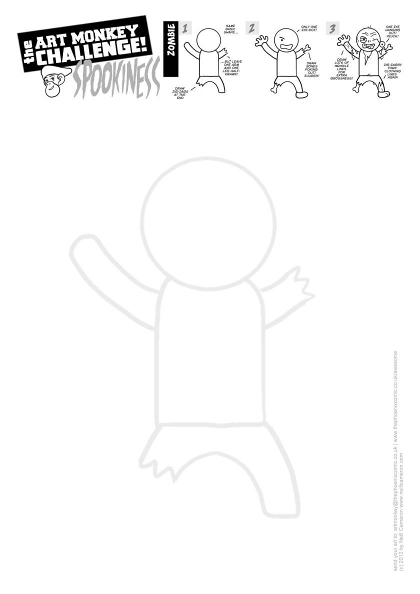 Art Monkey 21c - ZOMBIE Activity Sheet