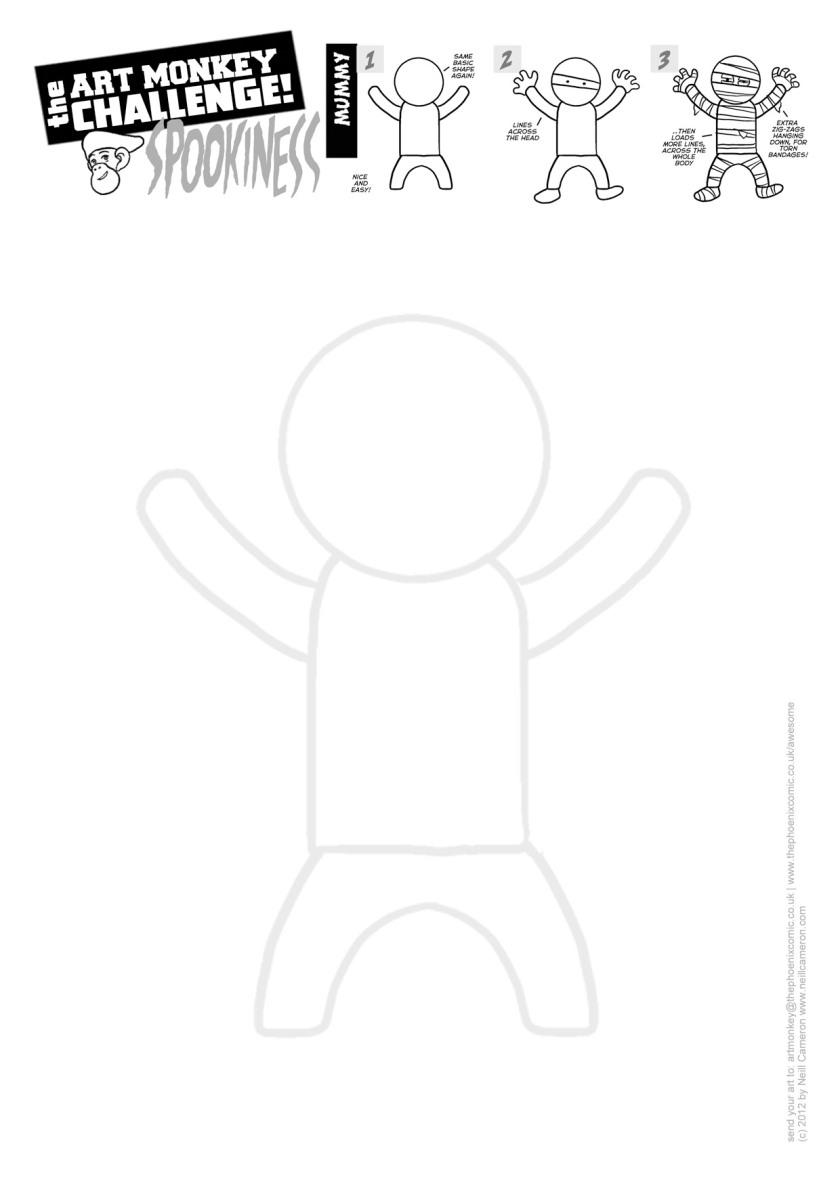 Art Monkey 21d - MUMMY Activity Sheet
