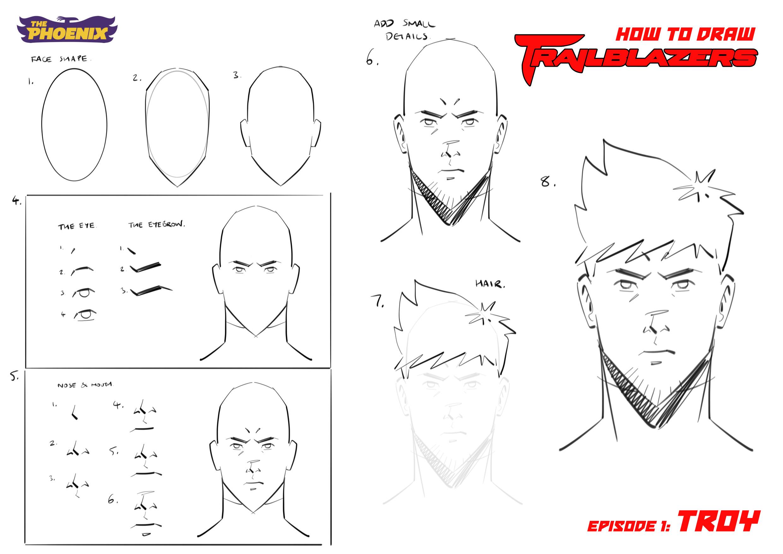 How to draw Traiblazers bt Robert Deas