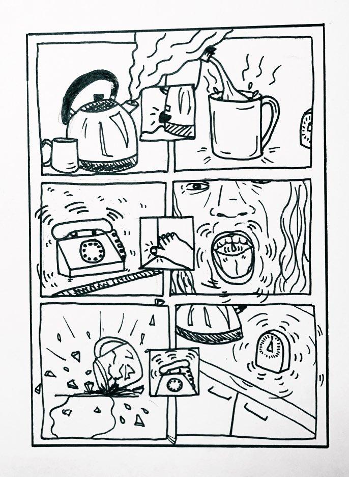 A noisy 'silent comic' by Fern Hinton